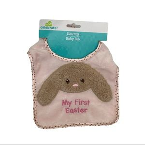 Celebrate Baby's 1st Easter bib One Size in Pink